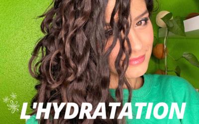 L'hydratation des cheveux